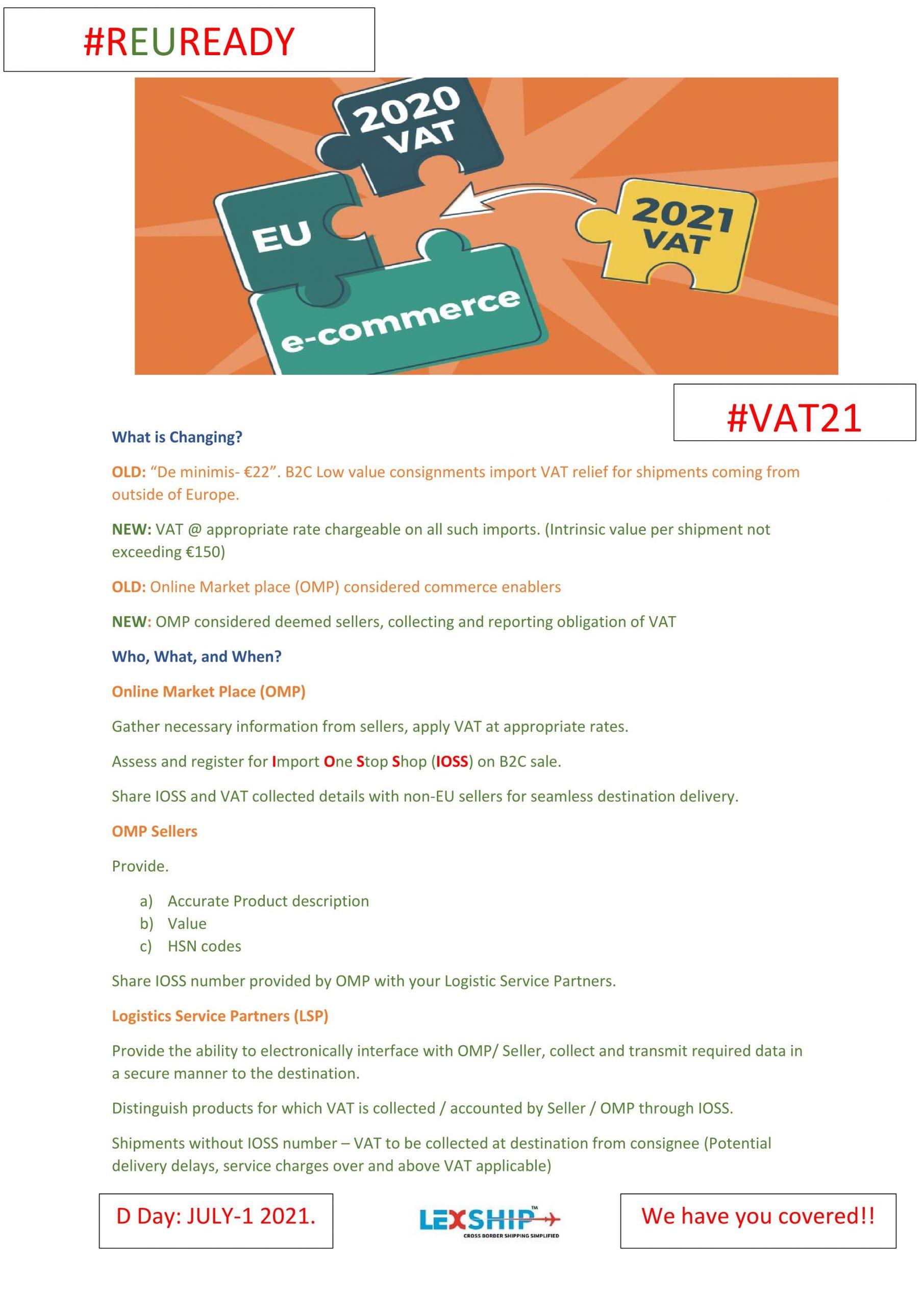 New EU VAT Regulations – What it changing?
